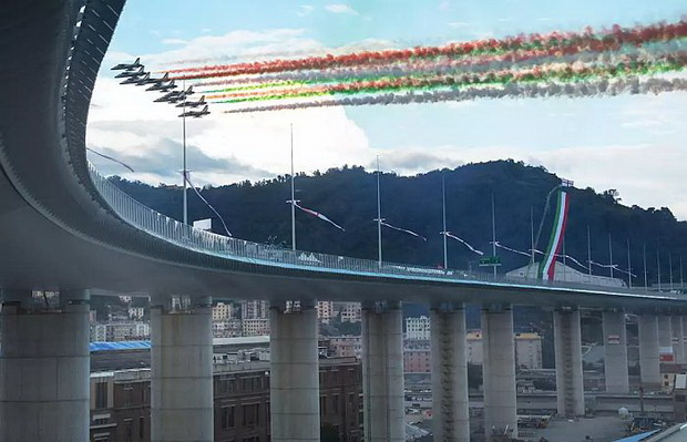Отворен новиот мост во Џенова на местото на Моранди