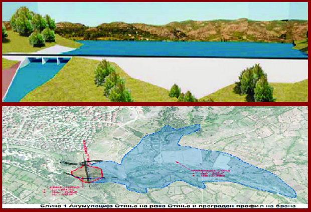 Идната година почнува изградбата на брана на река Отиња