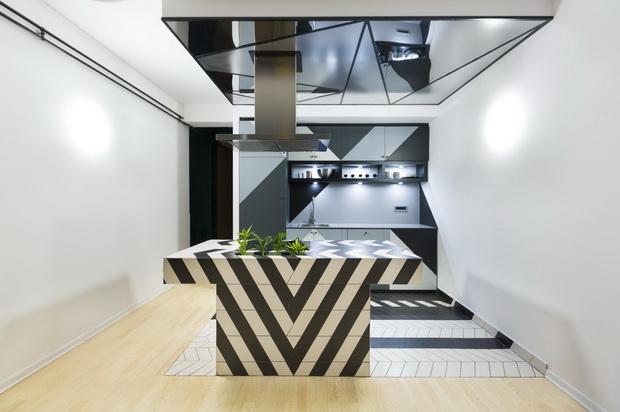 Естетски смело обликуван стан во Белград