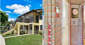 Необичен ентериер на куќа во Флорида, чии ѕидови се обложени со лименки од пиво
