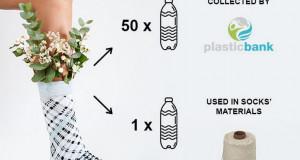 Еден пар чорапи направени од 51 пластично шише од океанот