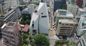 I-Tower во Сеул, бетонската форма на надворешноста е иконична слика