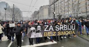Србија: Одржан протест за чист воздух