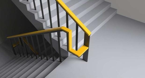Со редизајнирање на оградите на скалите, старите лица можат да седнат и одморат