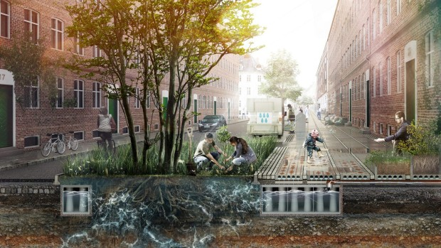 Копенгахен добива станбен блок отпорен на климатски промени