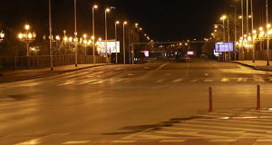 И ова е Скопје… Празно за полициски час