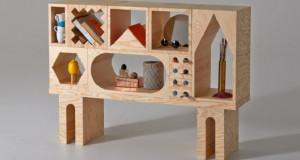 Разигран шкаф со многу опции за чување на работи