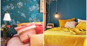 Бои за декорирање на спалната соба на почетокот на пролетта
