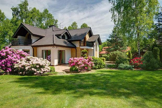 Photo of elegant new design villa with backyard
