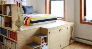 Кревети за мали спални соби со простор за складирање