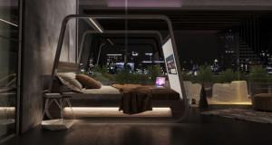 Кревет од соништата? Има голем екран и звучници!