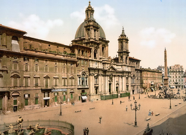 Стари фотографии од Рим во 1890-тите