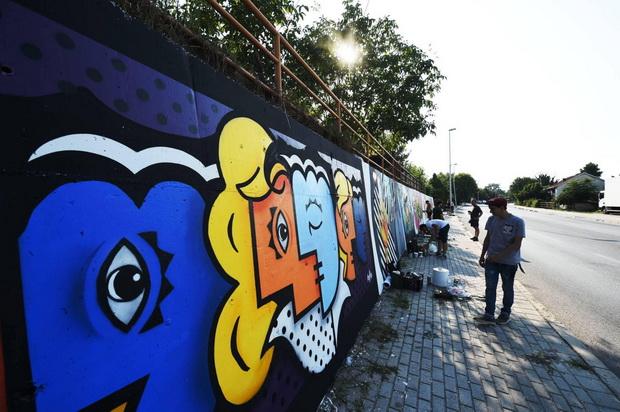 Легален ѕид #1 со порака за солидарност, како сеќавање на земјотресот во Скопје