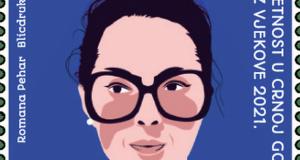 Светлана Кана Радевиќ на поштенска марка во Црна Гора