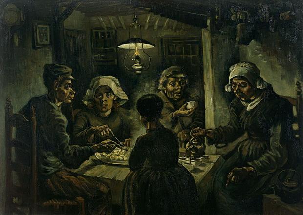 """Луѓе кои јадат компир"" на Ван Гог, грешка или ремек дело?"
