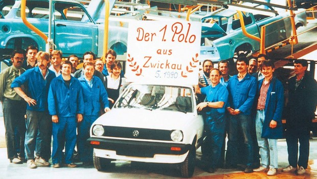 Erster VW Polo aus Zwickau,  1990